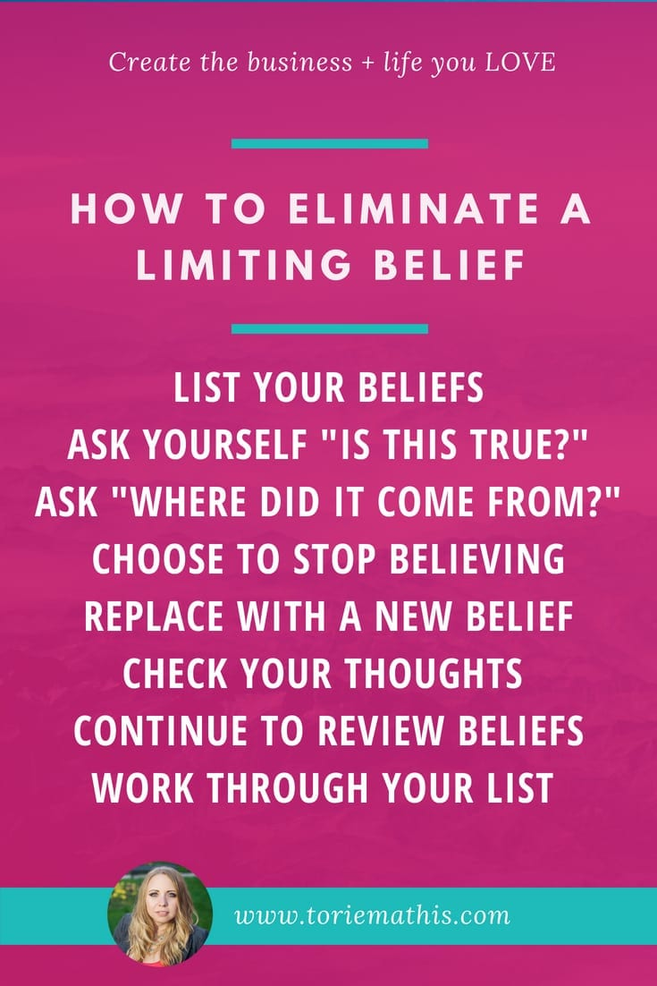 ELIMINATE A LIMITING BELIEF WITH TORIE MATHIS