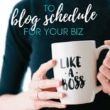 8 Step Blog Schedule